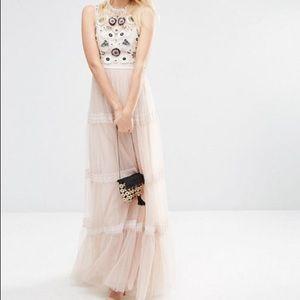 Needle & Thread Tiered Woodland Maxi Dress